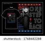 one step to racing  vector... | Shutterstock .eps vector #1768682288