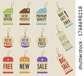 set of price tags with... | Shutterstock .eps vector #1768698218