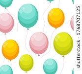 balloon seamless pattern...   Shutterstock .eps vector #1768707125