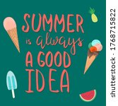 summer time design with text... | Shutterstock .eps vector #1768715822