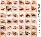 Collection Of Many Female Eyes...