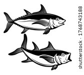 illustrations of tuna fish in... | Shutterstock .eps vector #1768743188
