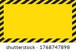 dangerous background. black and ... | Shutterstock .eps vector #1768747898