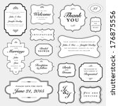 vector wedding invite frame set.... | Shutterstock .eps vector #176875556