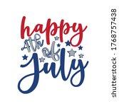happy 4th of july   happy... | Shutterstock .eps vector #1768757438