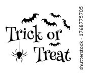 Trick Or Treat Text Banner....