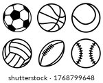 sport balls set. ball icons.... | Shutterstock .eps vector #1768799648