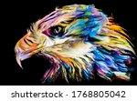 Animal Paint Series. Eagle...
