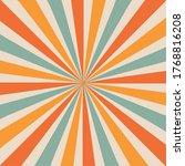 sunburst retro 70s vector...   Shutterstock .eps vector #1768816208