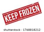 keep frozen rubber stamp. red... | Shutterstock .eps vector #1768818212