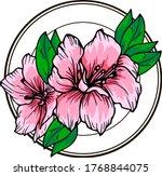 flowers delicate azalea in a... | Shutterstock .eps vector #1768844075