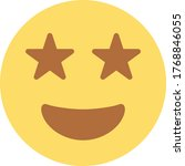 grin stars emoji   emoticon   Shutterstock .eps vector #1768846055