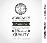vintage sea badge with text... | Shutterstock .eps vector #176888552