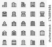 civil buildings | Shutterstock .eps vector #176889686