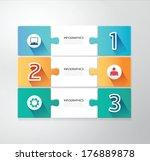 modern design jigsaw style... | Shutterstock .eps vector #176889878