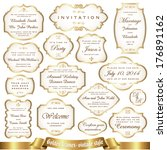 golden frames   vintage style | Shutterstock .eps vector #176891162
