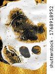 golden swirl  artistic design.... | Shutterstock . vector #1768918952