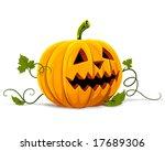 vector halloween pumpkin... | Shutterstock .eps vector #17689306