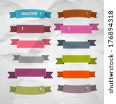 retro ribbons  labels  tags set ... | Shutterstock . vector #176894318