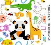 animals seamless | Shutterstock .eps vector #176894882