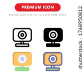 webcam icon pack isolated on...