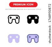 gamepad icon pack isolated on...