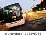 white bus on the road | Shutterstock . vector #176895758