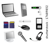 set of detailed electronic...   Shutterstock .eps vector #17689852