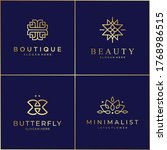 luxury line design logo... | Shutterstock .eps vector #1768986515