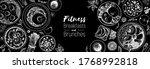 breakfast  brunch sketch design ... | Shutterstock .eps vector #1768992818