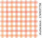 Orange Watercolor Checkered...