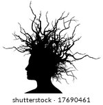 woman with branches hair ... | Shutterstock .eps vector #17690461