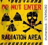radiation area warning  vector... | Shutterstock .eps vector #176906282