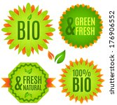 bio  natural  fresh   vector... | Shutterstock .eps vector #176906552