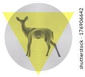 vector deer in tiangle and...   Shutterstock .eps vector #176906642