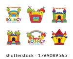 bouncy castle hire logo bundle | Shutterstock .eps vector #1769089565