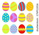 easter eggs colorful set.... | Shutterstock .eps vector #176911016