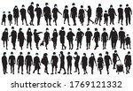 big collection of people... | Shutterstock .eps vector #1769121332