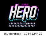 comics superhero style font ... | Shutterstock .eps vector #1769124422