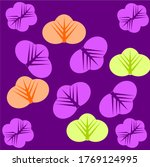four leaves with six purple... | Shutterstock .eps vector #1769124995