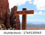 End Of Trail Sign  Sedona