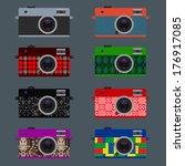 set of retro cameras  hipster...