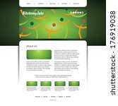 website template with abstract... | Shutterstock .eps vector #176919038