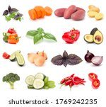 vegetables collection isolated... | Shutterstock . vector #1769242235