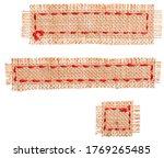 Burlap Fabric Patches Pieces ...