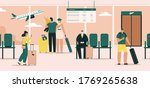 Passengers In Airport Terminal...