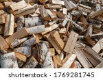 Large Pile Of Chopped Birch...