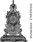 a bronze clock stand from the... | Shutterstock .eps vector #1769294162
