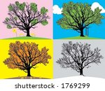 four seasons vector with a very ... | Shutterstock .eps vector #1769299