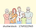 family  portrait  motherhood ... | Shutterstock .eps vector #1769322965